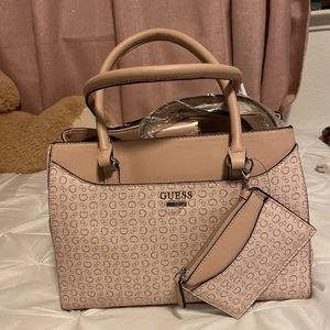 Guess Light Rose Stepp Purse